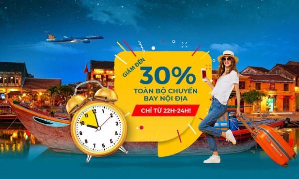 Siêu Khuyến Mãi Đến 30% từ Vietnam Airlines