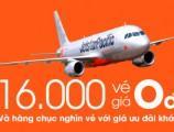 jetstar mở bán 16.000 vé máy bay giá 0 đồng!