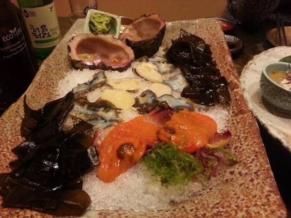 Hải sản tươi sống của nhà hàng Goraebul