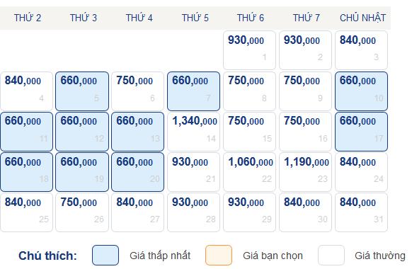 Bảng giá vé Hà Nội đi Quy Nhơn tháng 5-2015