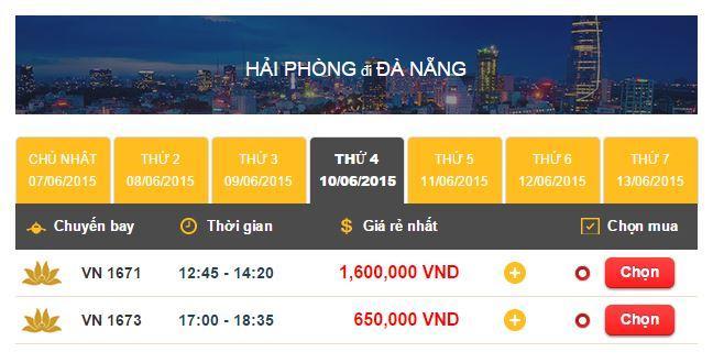 Vé máy bay đi Hải Phòng - Đà Nẵng