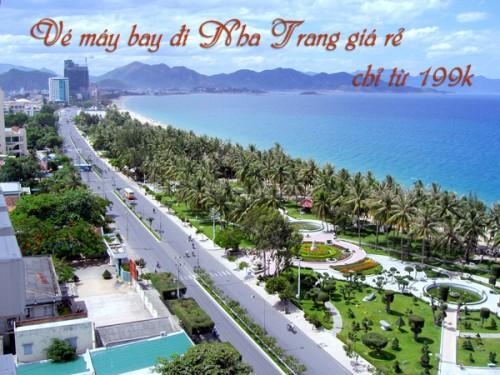 Vé máy bay đi Nha Trang giá rẻ chỉ từ 199k