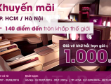 Vé máy bay giá rẻ của Qatar Airways khứ hồi chỉ 1000USD