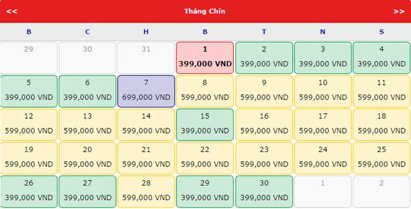 Vé máy bay đi Hà Nội khuyến mãi tháng 9 chỉ 399k