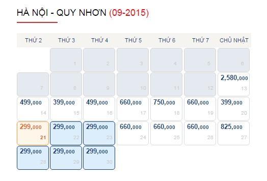 Vé máy bay Hà Nội - Quy Nhơn giá rẻ