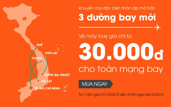 Săn vé máy bay giá rẻ chỉ 30k