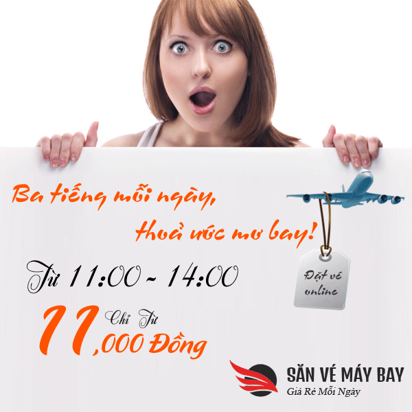 San ve may bay khuyen mai chỉ 11k