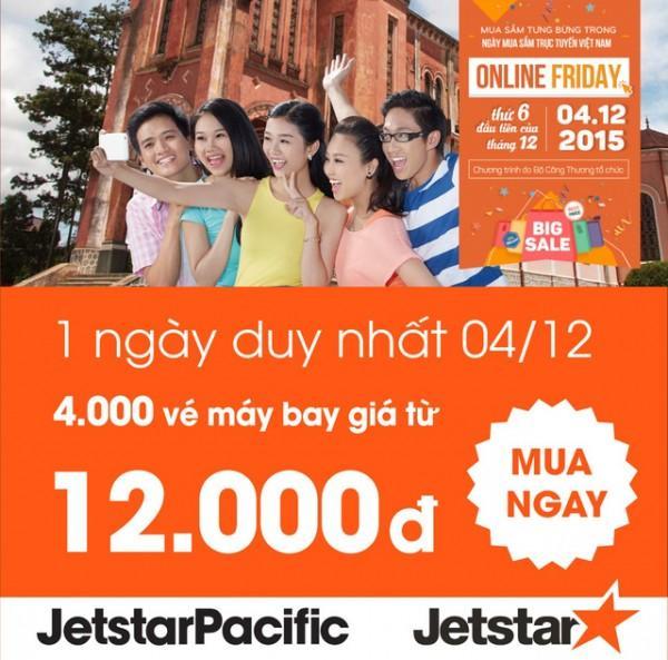 Jetstar mở bán loạt vé máy bay khuyến mãi chỉ từ 12,000 đồng
