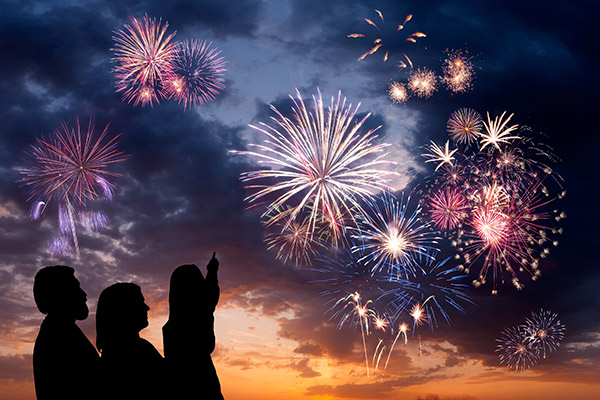Bắn pháo hoa Tết 2016 ở công viên văn hóa Đầm Sen