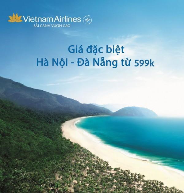 Vé máy bay đi Đà Nẵng giá rẻ của Vietnam Airlines