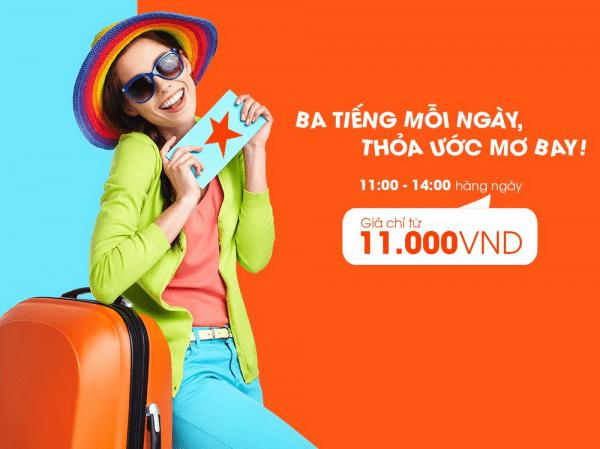 Jetstar khuyến mãi giờ vàng vé máy bay đi Đà Nẵng chỉ 11000 đồng