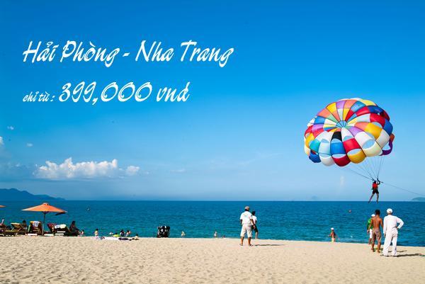 Vé máy bay Hải Phòng đi Nha Trang hãng Vietnam Airlines chỉ 399k