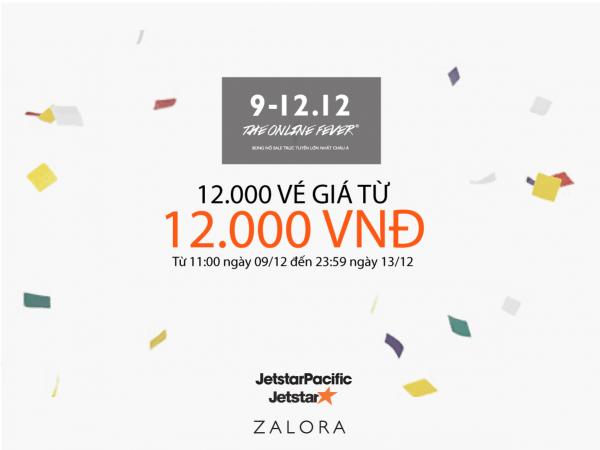 Vé máy bay khuyến mãi đặt biệt 12000 vé giá chỉ từ 12,000 VNĐ