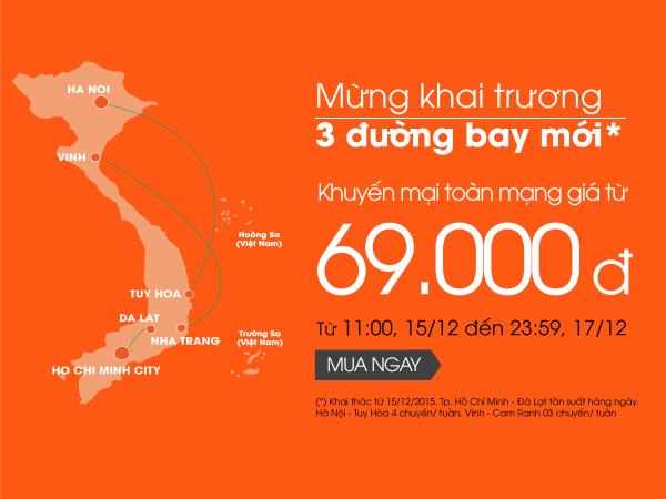 Thật bất ngờ vé máy bay giá rẻ chỉ từ 69,000đ