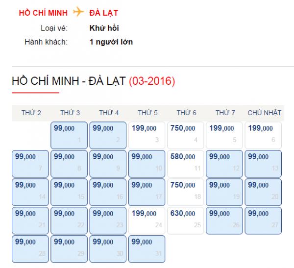 Săn vé máy bay khuyến mãi 99k của Vietjet Air