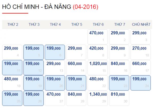 Vé máy bay đi Đà Nẵng chỉ từ 199k