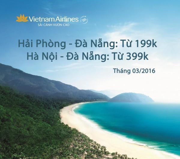 Vietnam Airlines siêu khuyến mãi vé máy bay đi Đà Nẵng