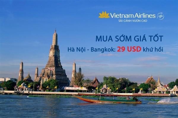 Cực hấp dẫn với loạt vé máy bay khứ hồi chỉ 29 USD của Vietnam Airlines