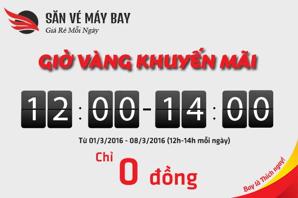 Nhanh tay săn ngay loạt vé máy bay khuyến mãi 0 đồng từ Vietjet