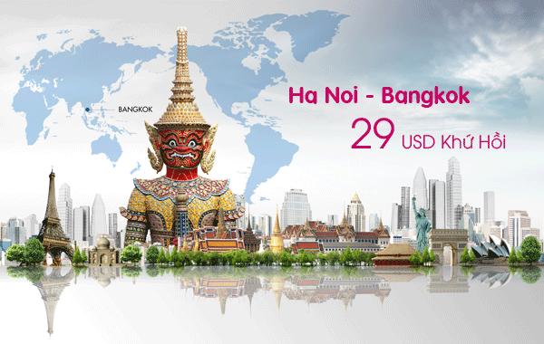 Vietnam Airlines vé máy bay đi Bangkok khứ hồi chỉ 29 USD