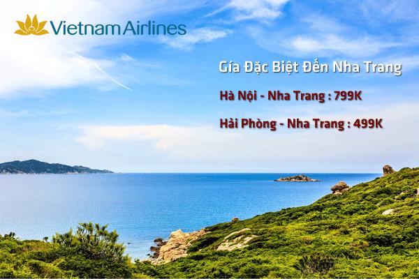 Ngập tràn vé máy bay đi Nha Trang khuyến mãi của Vietnam Airlines