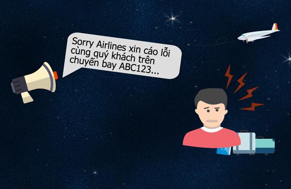Thông báo chuyến bay đi delay