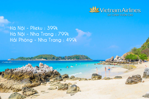 Hấp dẫn với loạt vé máy bay khuyến mãi tháng 3 của Vietnam Airlines