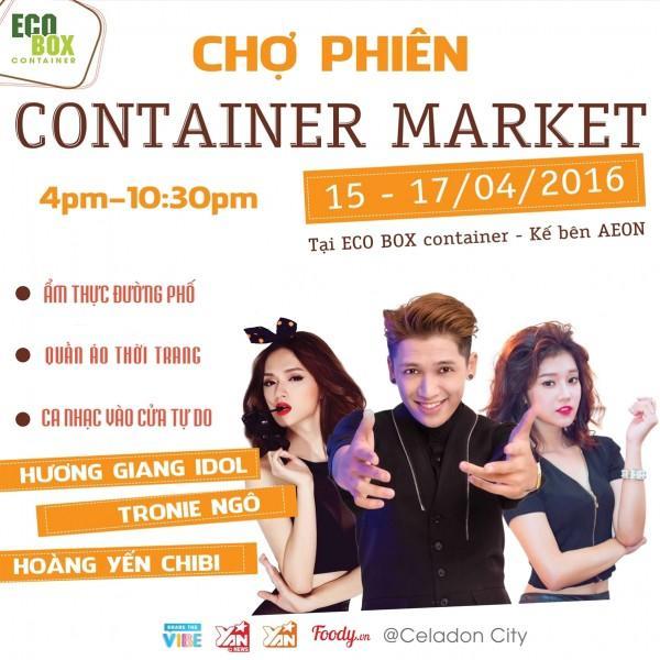 Độc và lạ lễ hội ẩm thực và thời trang trong container