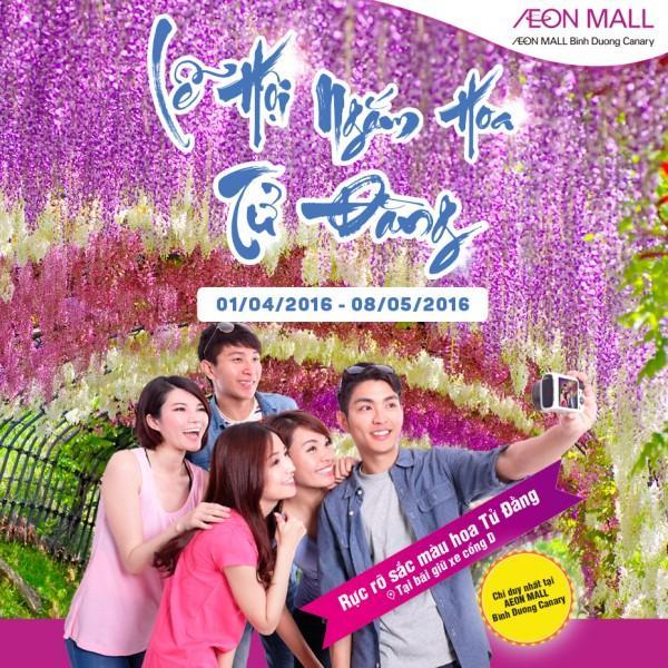 Aeon mall lễ hội lễ hội Hoa Tử Đằng