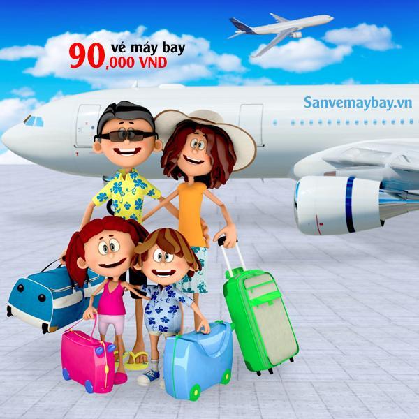 Vé máy bay khuyến mãi toàn mạng bay chỉ từ 90000 đồng