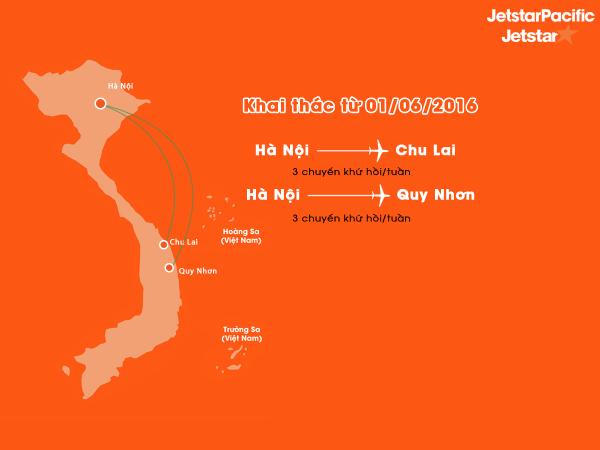 Vé máy bay Hà Nội đi Quy Nhơn và Hà Nội đi Chu Lai giá rẻ