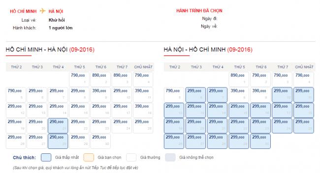 Vé máy bay đi Hà Nội chỉ từ 299000 đồng