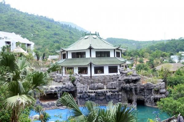 Tháp Osen được thiết kế và xây dựng theo kiến trúc Nhật Bản