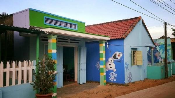 Ngôi làng trở nên cực kỳ sống động, xinh đẹp qua bàn tay tài hoa của họa sĩ Hàn Quốc.