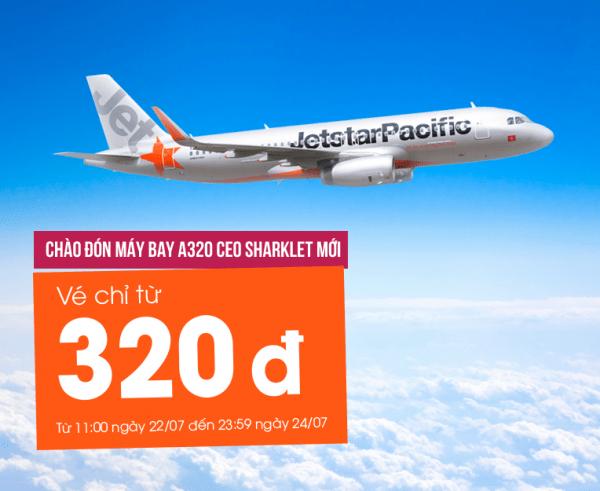 Sốc với hàng ngàn vé máy bay chỉ 320 đồng của Jetstar Pacific