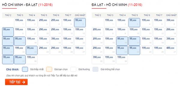 Săn vé máy bay giá rẻ đi Đà Lạt