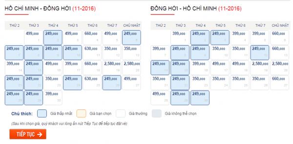 Săn vé máy bay giá rẻ đi Đồng Hới