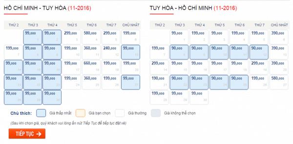 Săn vé máy bay giá rẻ đi Phú Yên