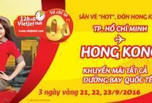 Săn vé hot – Đón Hong Kong