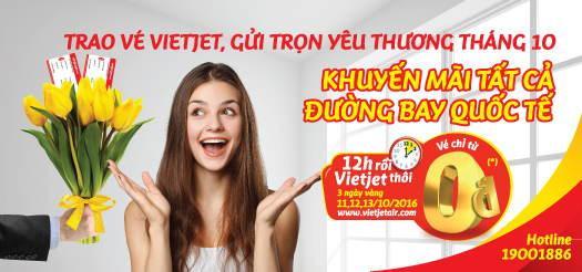 Vietjet khuyến mãi các chặng bay quốc tế