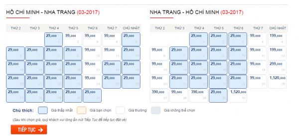 Săn vé máy bay đi Nha Trang của Vietjet Air chỉ từ 29000 đồng