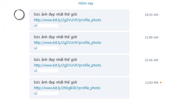 Virus gởi link bitly có dạng profile_image=username của người nhận