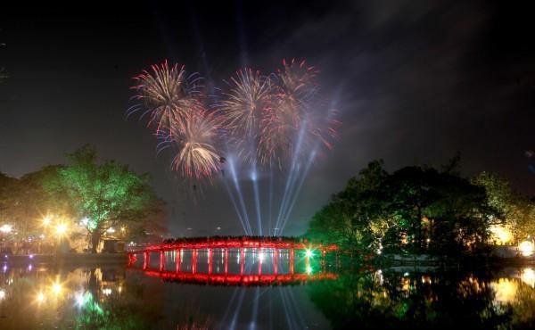Điểm bắn pháo hoa dịp tết dương lịch tại Hà Nội