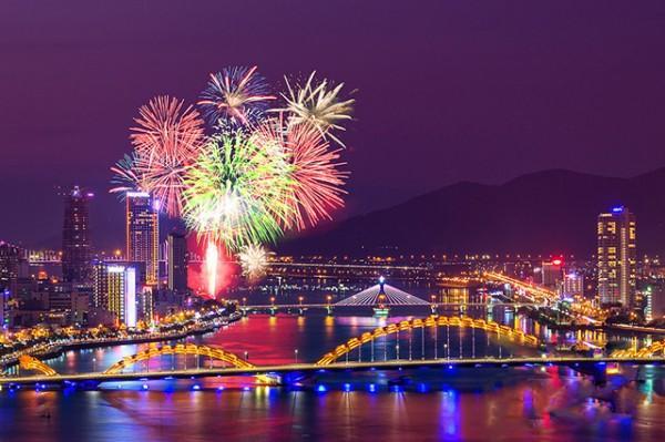 Điểm bắn pháo hoa dịp tết dương lịch tại Đà Nẵng
