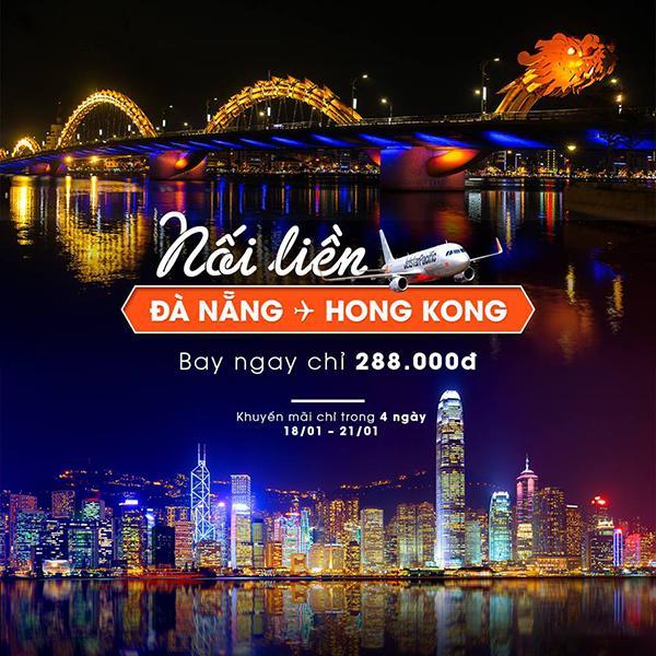 Cùng Jetstar nối liền Đà Nẵng với Hồng Kông chỉ từ 288k
