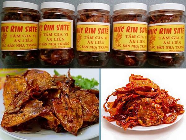 Mực rim sa tế - Đặc sản Nha Trang