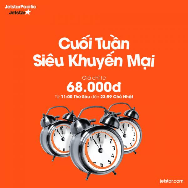Jetstar khuyến mãi cuối tuần chỉ từ 68000 đồng