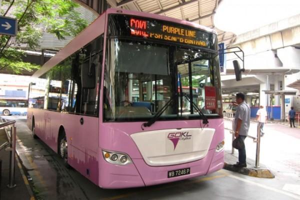 Xe buýt GoKL miễn phí tại Kuala Lumpur.