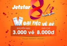 Mừng 8/3 Jetstar mở đại tiệc với 3000 vé rẻ chỉ từ 8000 đồng