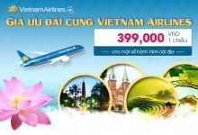 Vietnam Airlines tung vé máy bay giá rẻ chỉ 399000 đồng